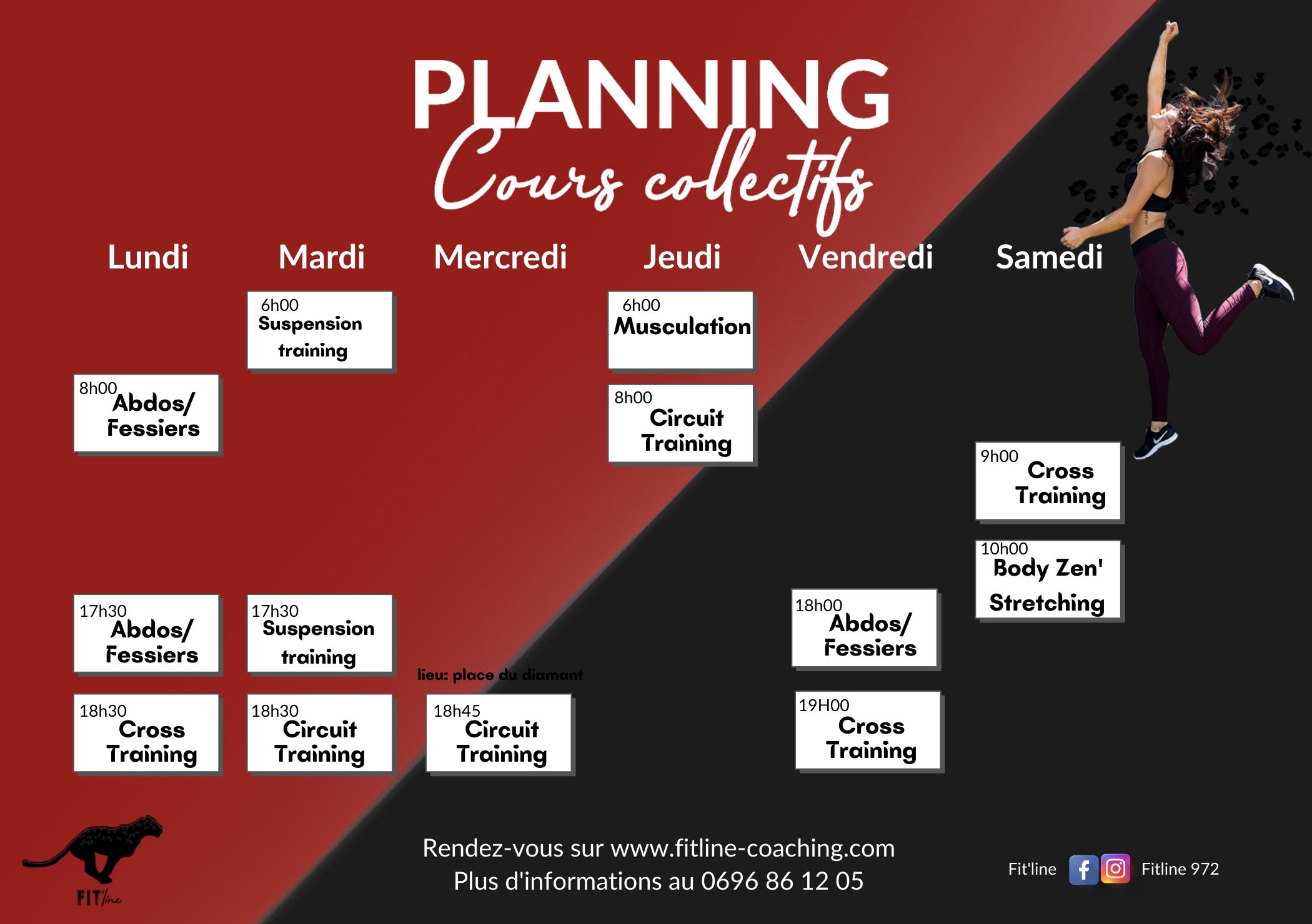 Planning des cours collectifs